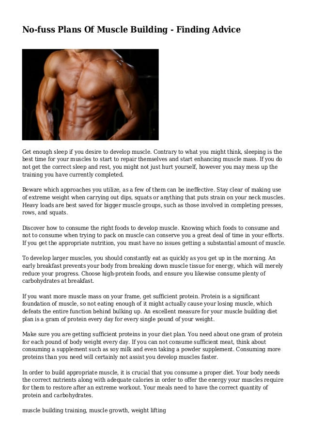 Diet plan for extreme muscle gain