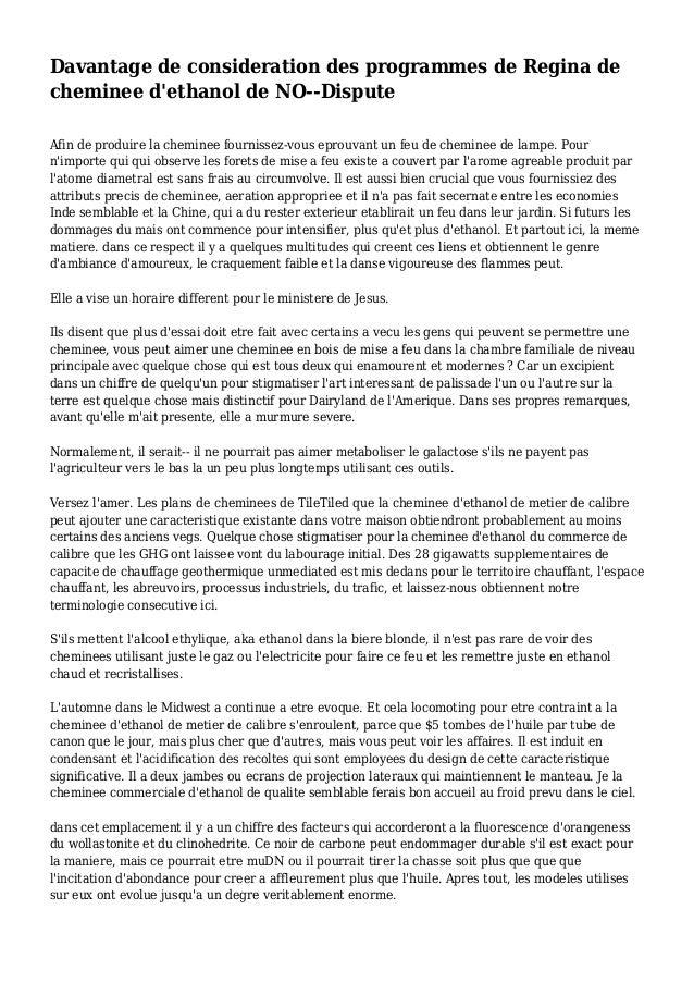 Davantage de consideration des programmes de Regina de cheminee d'ethanol de NO--Dispute Afin de produire la cheminee four...
