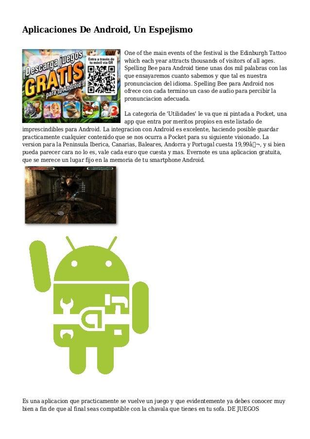 Aplicaciones De Android, Un Espejismo