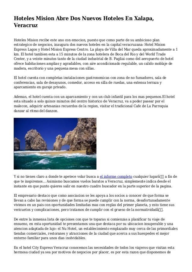 Hoteles Mision Abre Dos Nuevos Hoteles En Xalapa Veracruz