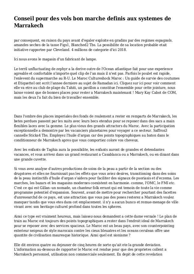 Conseil pour des vols bon marche definis aux systemes de Marrakech par consequent, en raison du pays avant d'egaler exploi...
