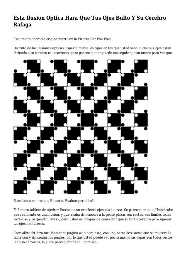 Esta ilusion optica hara que tus ojos bulto y su cerebro - Ilusiones opticas para imprimir ...