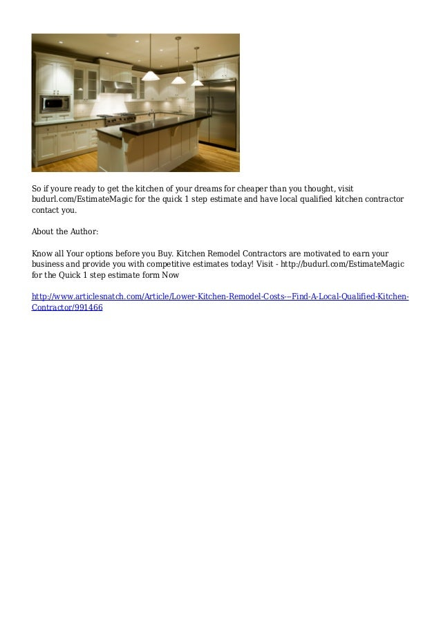 Lower Kitchen Remodel Costs & Find A Local Qualified Kitchen ...
