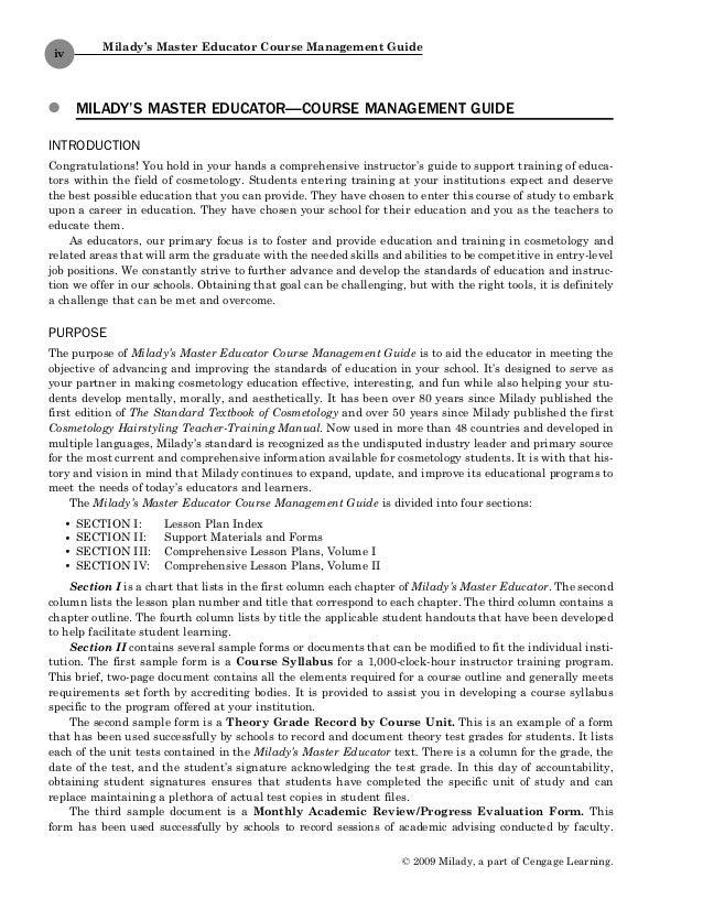 1428321527 master edcmg rh slideshare net esthetics milady instructor manual milady instructor manual 6th edition