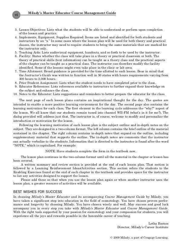 1428321527 master edcmg rh slideshare net milady cosmetology instructor manual Textbook Instructor Manuals