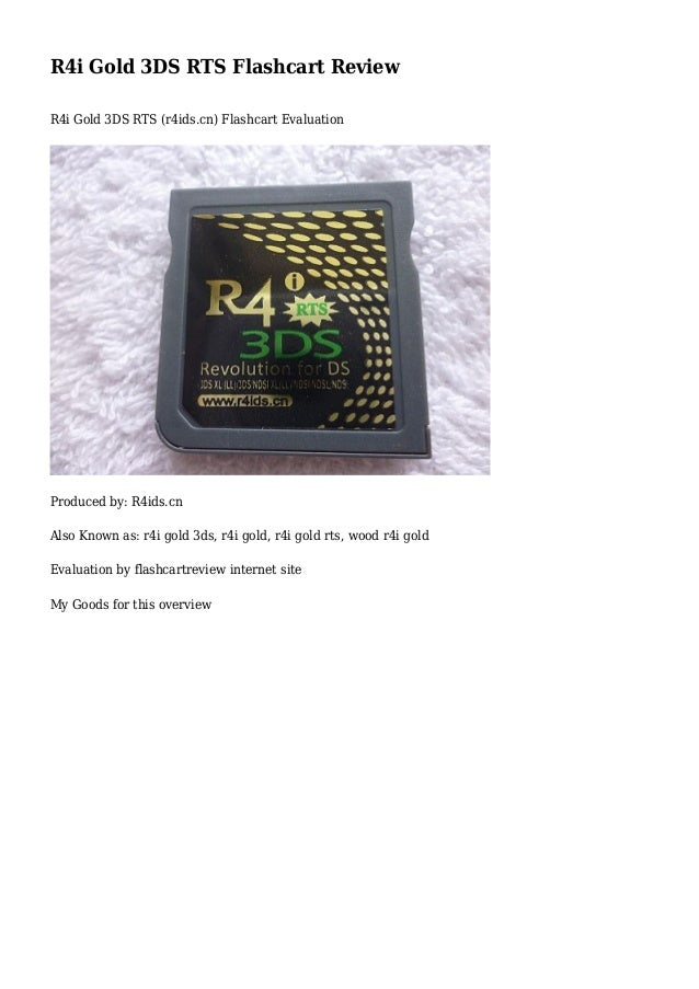 R4i Gold 3DS RTS Flashcart Review