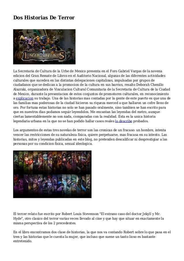 Dos Historias De Terror La Secretaria de Cultura de la Urbe de Mexico presenta en el Foro Gabriel Vargas de la novena edic...