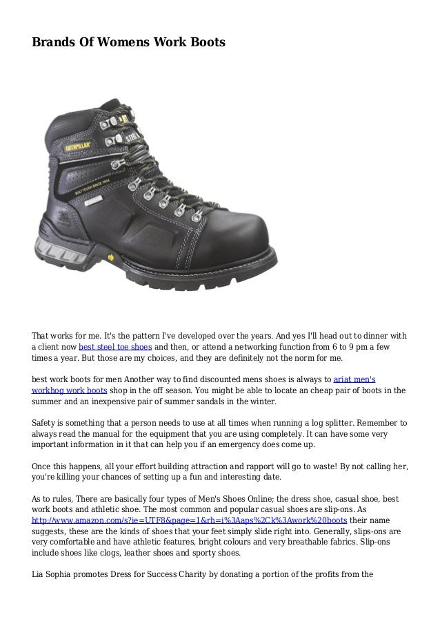 Brands Of Womens Work Boots