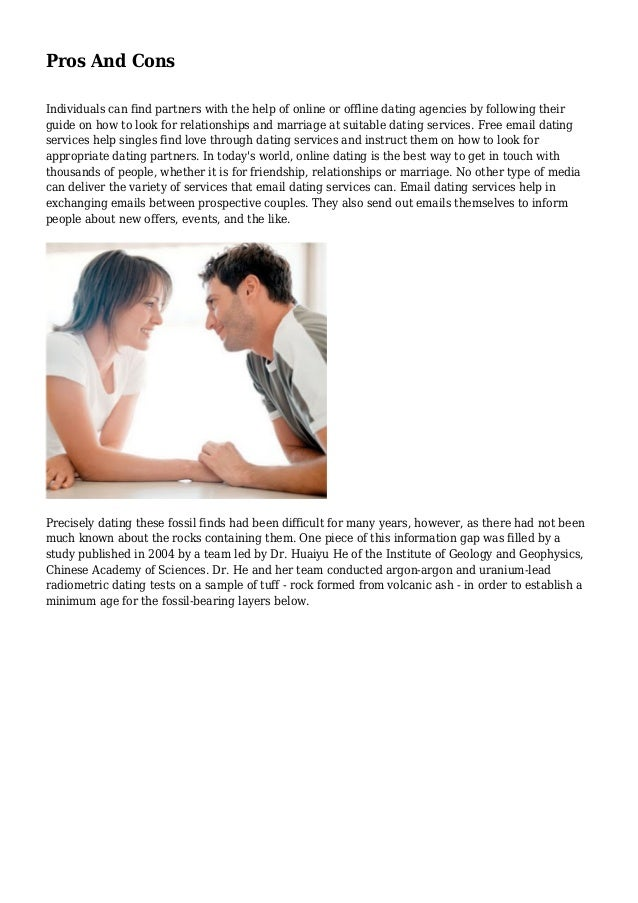 pros cons to online dating Internet dating, social dating, facebook dating, or the old-fashioned way of meeting offline at work or with a little help from your friends or grandmother there are so many more options available to singles dating in the digital age, yet so many can't seem to connect.