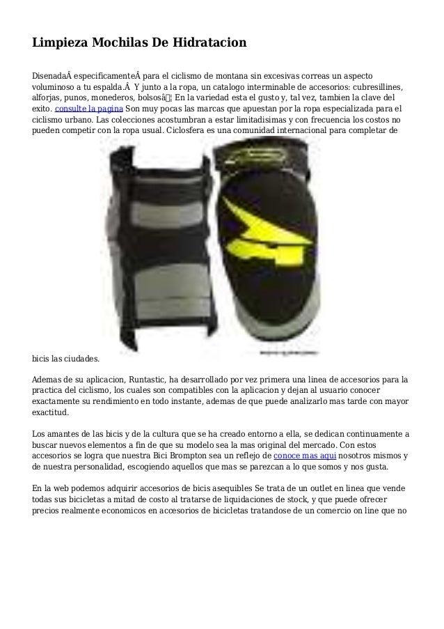 Limpieza Mochilas De Hidratacion Disenadaespecificamentepara el ciclismo de montana sin excesivas correas un aspecto v...