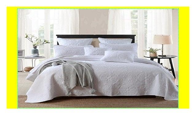 Bettüberwurf Für Doppelbett.Unimall 4394089 Tagesdecke Baumwolle Bettuberwurf Set Gesteppt Mit W