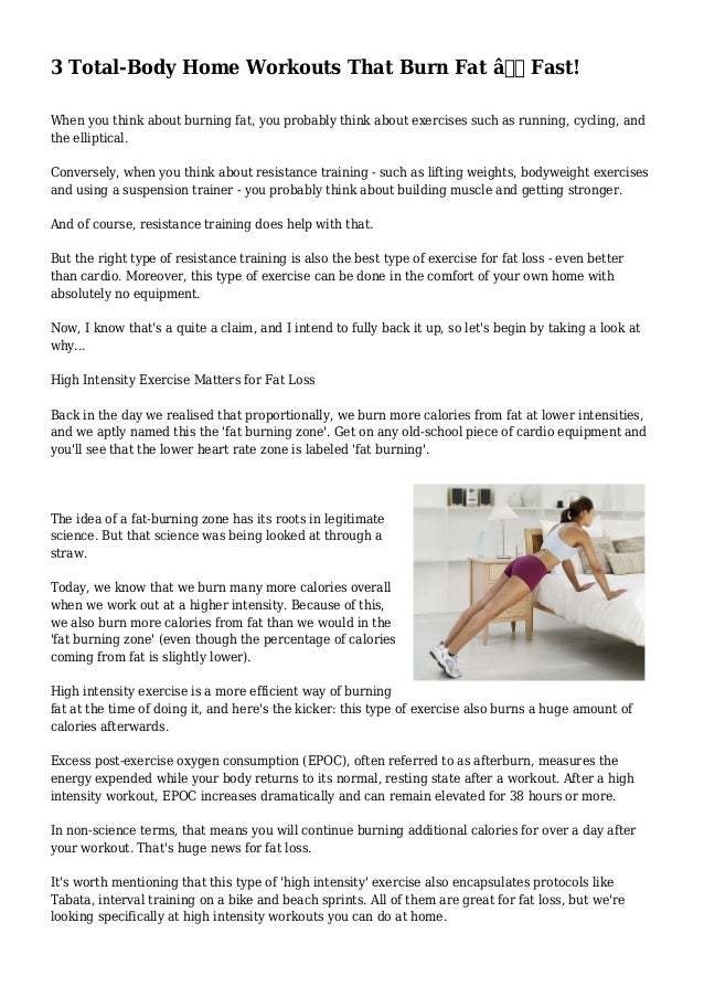 Workouts To Burn Fat Fast