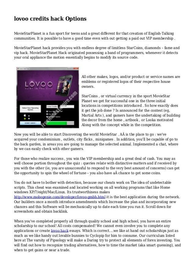 lovoo credits code hack