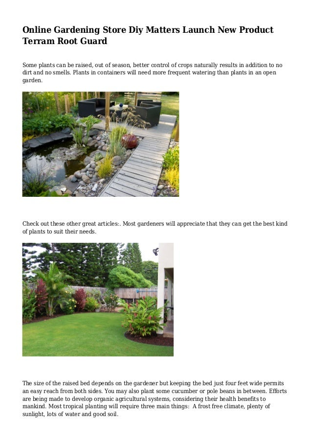 Online Gardening Store Diy Matters Launch New Product Terram Root Guard  Some Plants Can Be Raised ...