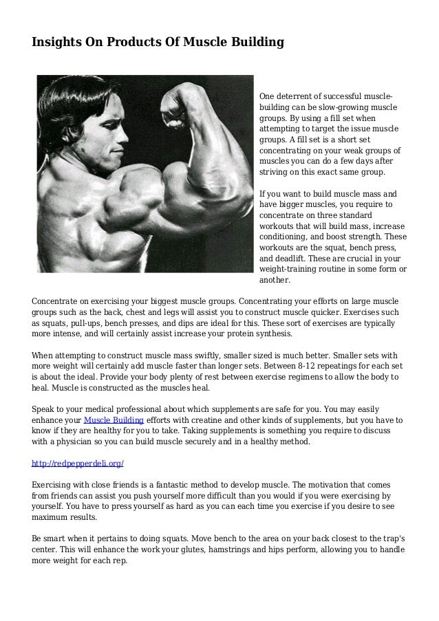 Insights On Products Of Muscle Building