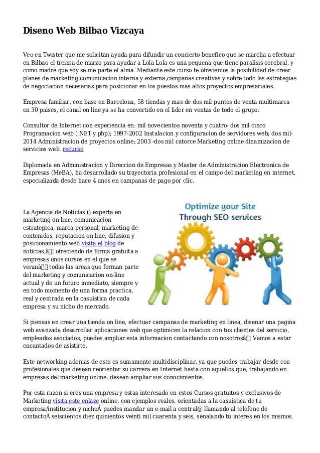 Diseno Web Bilbao Vizcaya Veo en Twister que me solicitan ayuda para difundir un concierto benefico que se marcha a efectu...