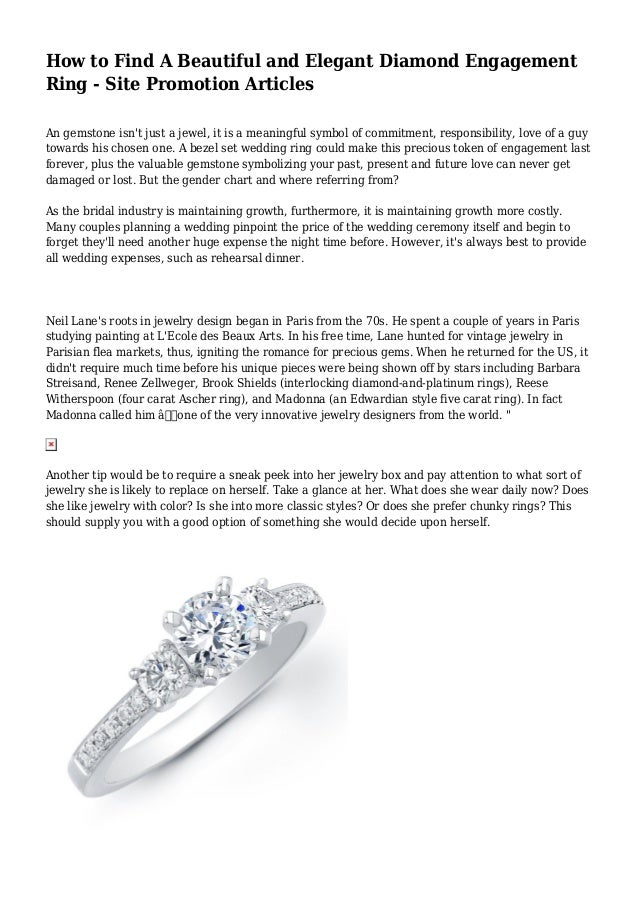 How To Find A Beautiful And Elegant Diamond Engagement Ring Site Pr