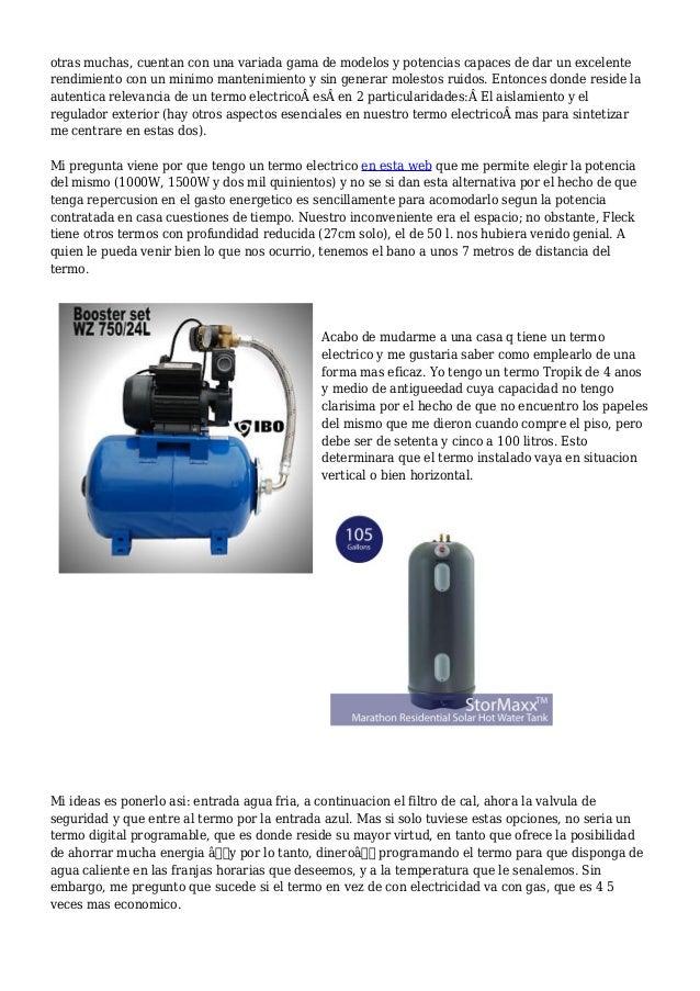 Termo electrico vs bomba de calor acs - Termo electrico para exterior ...