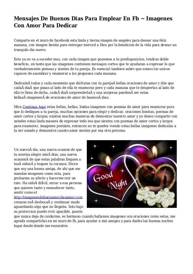 Mensajes De Buenos Dias Para Emplear En Fb Imagenes Con Amor Para D