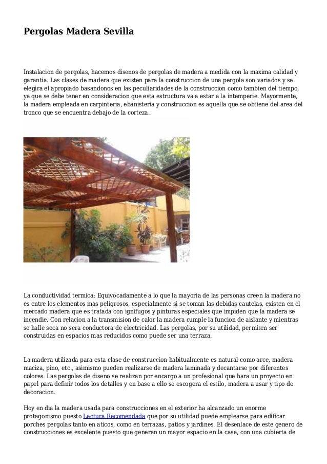 Pergolas Madera Sevilla