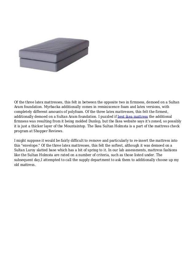 article ikea mattress reviews 17. Black Bedroom Furniture Sets. Home Design Ideas