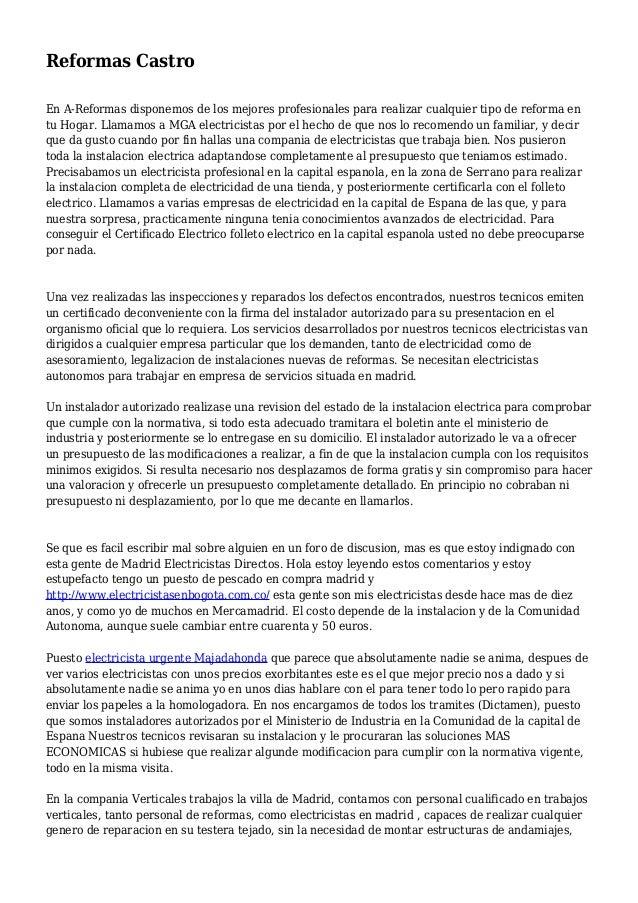 Reformas Castro En A-Reformas disponemos de los mejores profesionales para realizar cualquier tipo de reforma en tu Hogar....