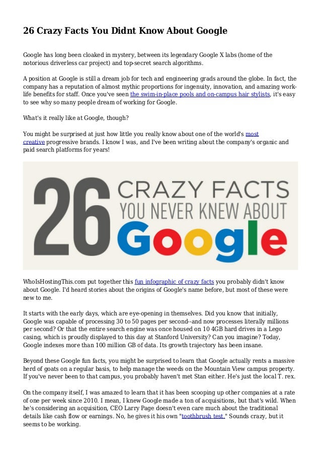 26 Crazy Facts You Didnt Know About Google