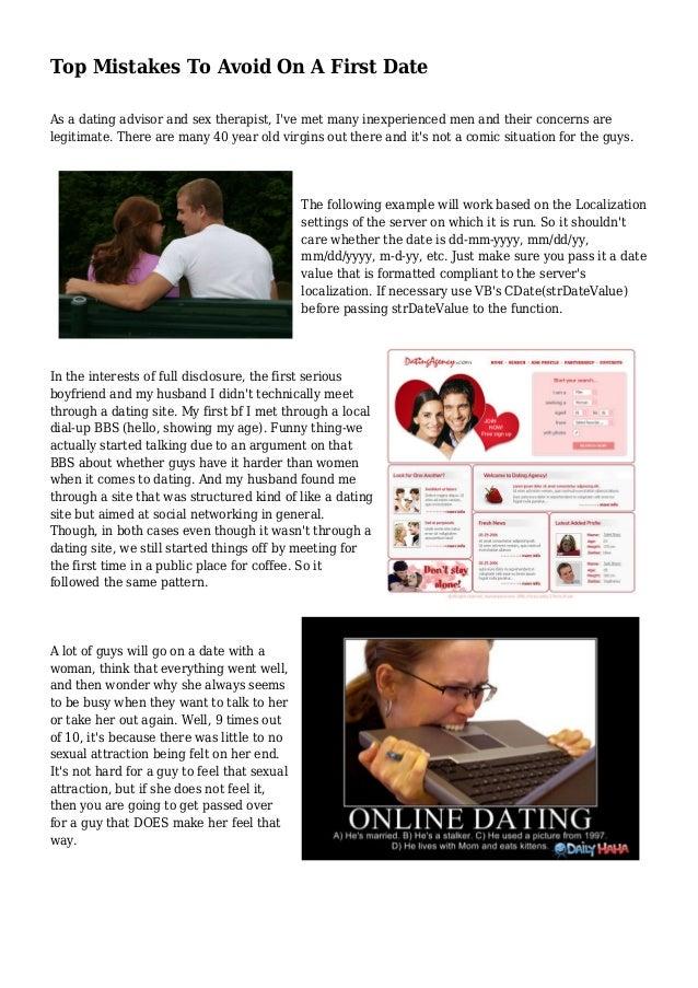 Dating inexperienced men