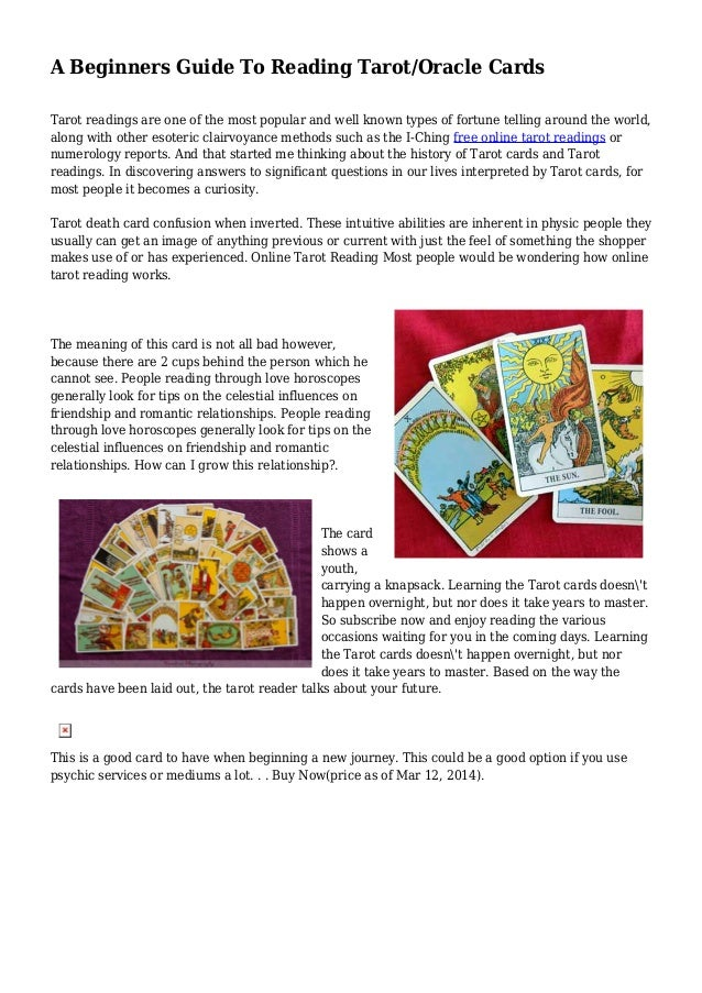 A Beginners Guide To Reading Tarot/Oracle Cards