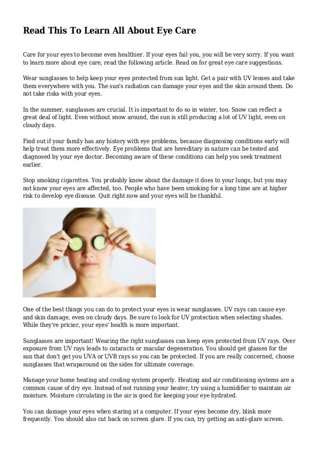 e03bbef0134 Read This To Learn All About Eye Care Care for your eyes to become even  healthier ...