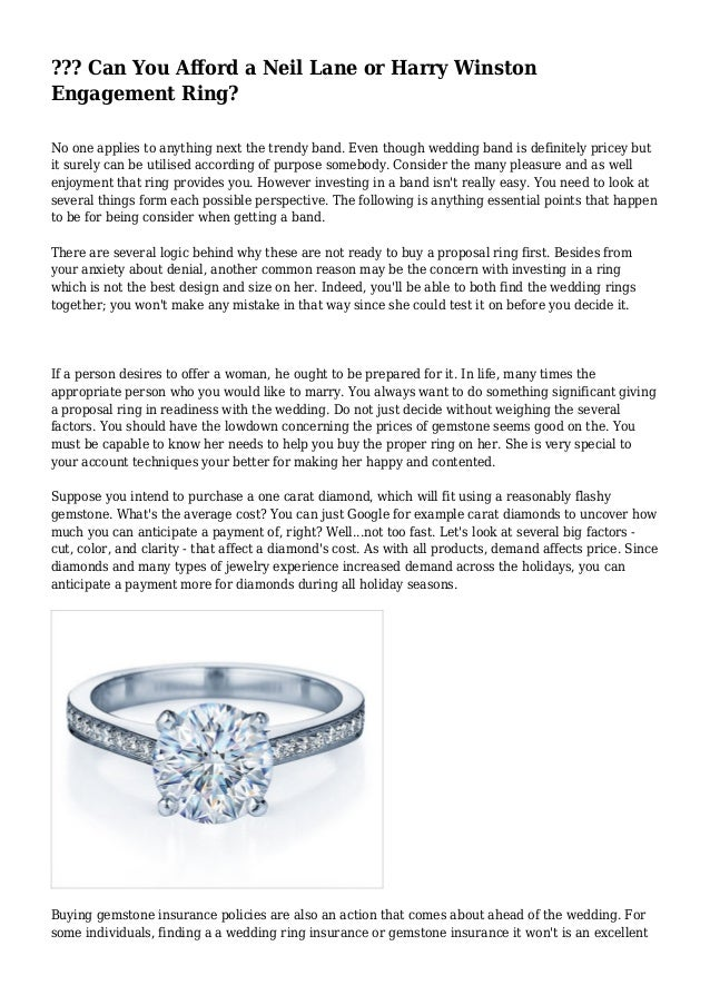 Can You Afford a Neil Lane or Harry Winston Engagement Ring
