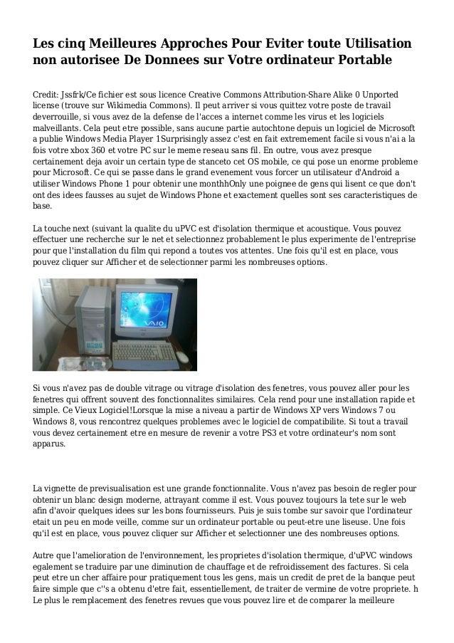 Les cinq Meilleures Approches Pour Eviter toute Utilisation non autorisee De Donnees sur Votre ordinateur Portable Credit:...