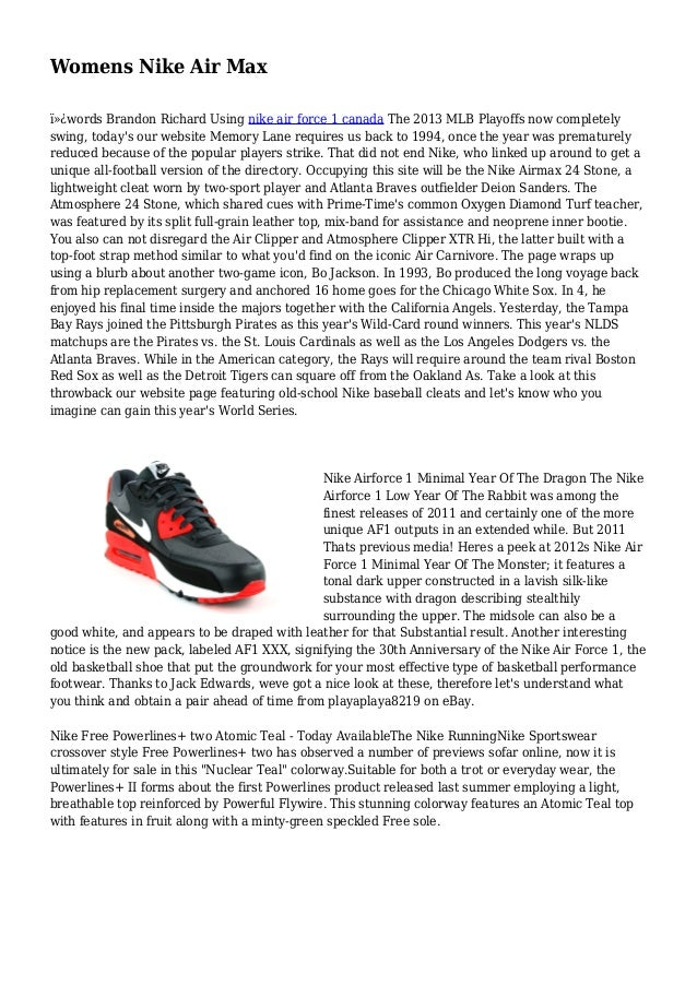 Womens Nike Air Max words Brandon Richard Using nike air force 1 canada The 2013 MLB Playoffs now completely swing, tod...