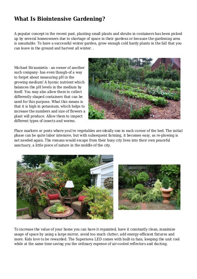 What Is Biointensive Gardening