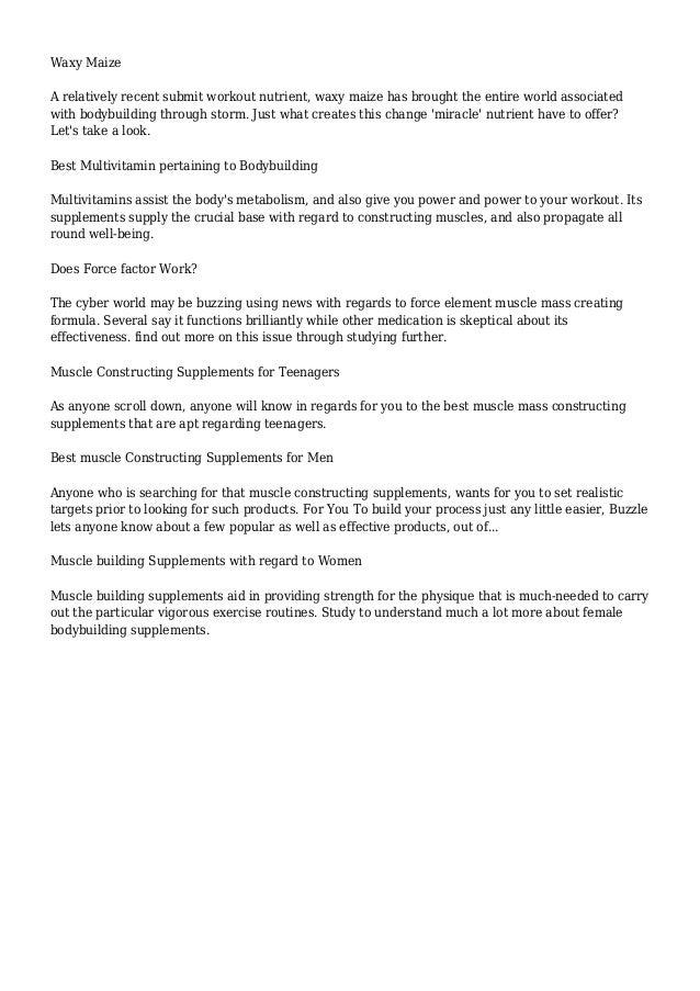 Bodybuilding Supplements | Buzzle.com Slide 2