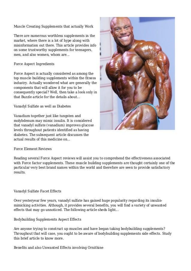 Bodybuilding Supplements | Buzzle.com Slide 3