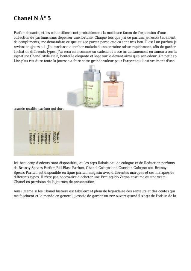Chanel N ° 5 Parfum decante, et les echantillons sont probablement la meilleure facon de l'expansion d'une collection de ...