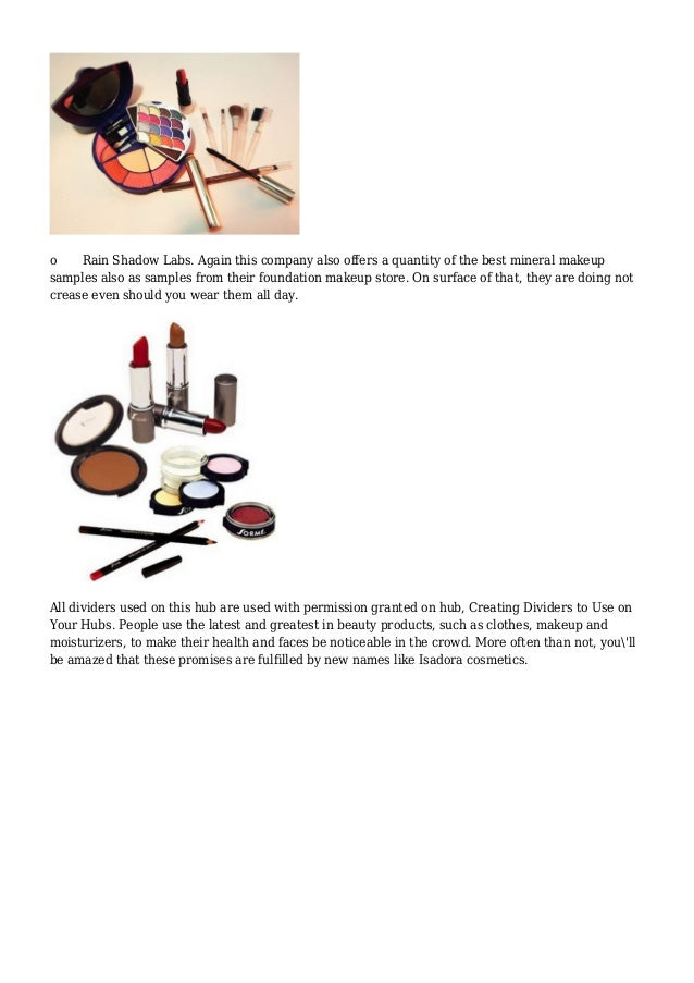 Best Free Sample Make Up Products - Request Legit ...