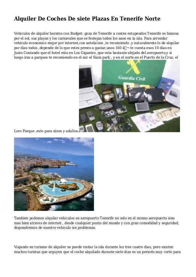 Alquiler De Coches De siete Plazas En Tenerife Norte Vehiculos de alquiler baratos con Budget: goza de Tenerife a costes e...