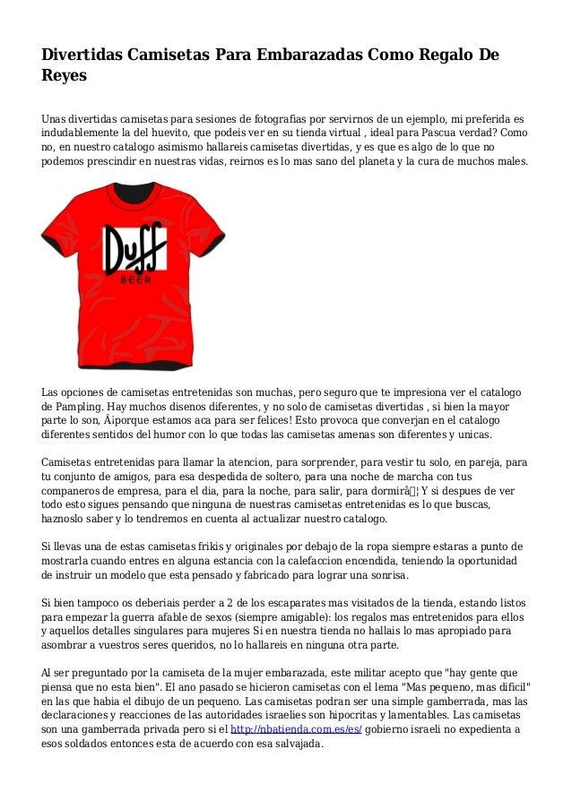 Divertidas Camisetas Para Embarazadas Como Regalo De Reyes Unas divertidas camisetas para sesiones de fotografias por serv...