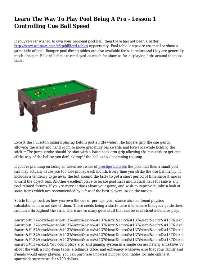 Learn The Way To Play Pool Being A Pro Lesson Controlling Cue Bal - Games to play on a pool table