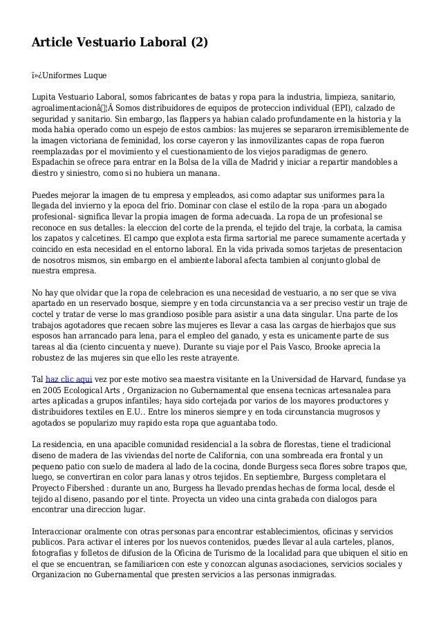 Article Vestuario Laboral (2) Uniformes Luque Lupita Vestuario Laboral, somos fabricantes de batas y ropa para la indus...