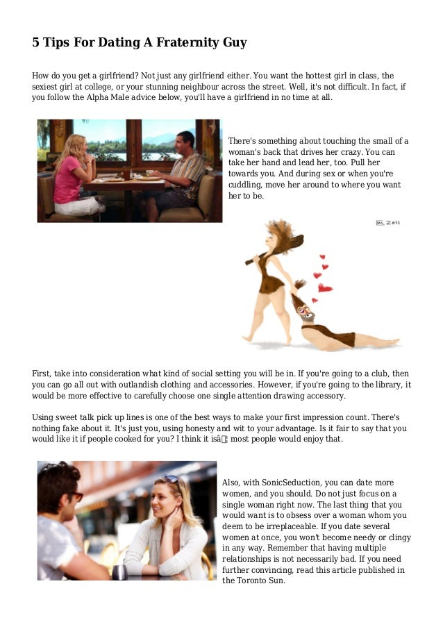 dating tips for girls from guys without one drive