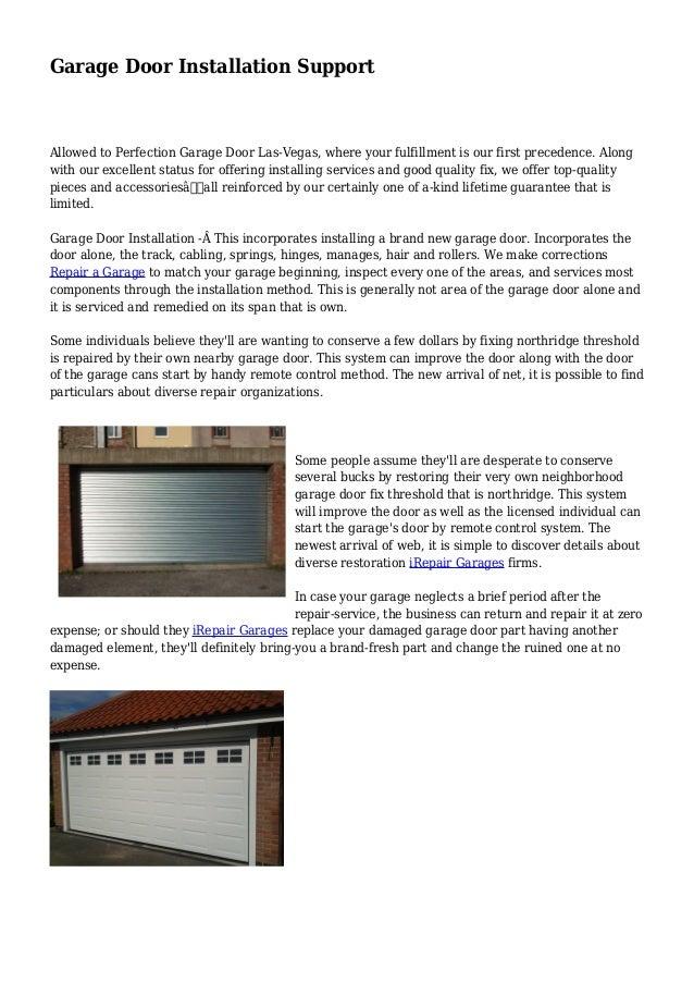 Garage Door Installation Support