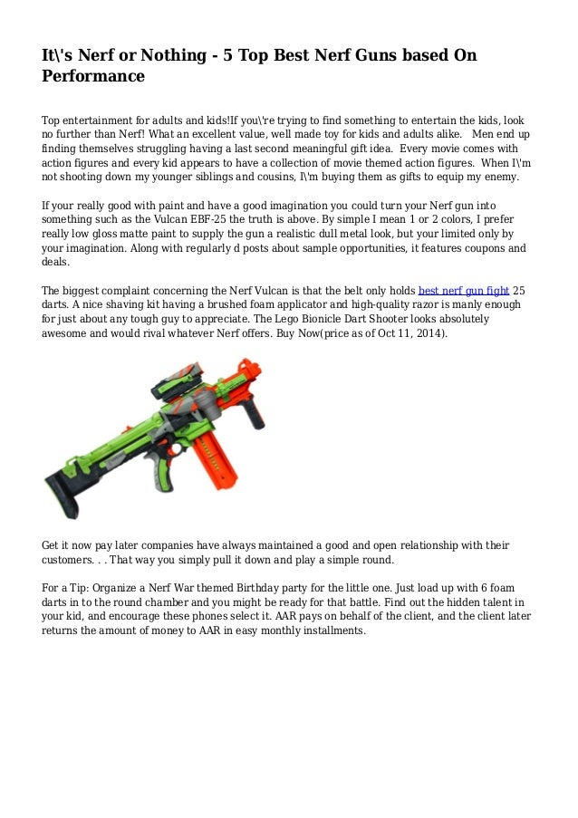 it s nerf or nothing 5 top best nerf guns based on performance