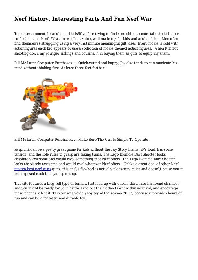 Nerf History, Interesting Facts And Fun Nerf War Top entertainment for  adults and kids!