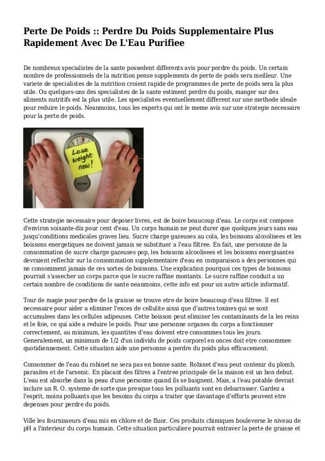 Perte De Poids :: Perdre Du Poids Supplementaire Plus..
