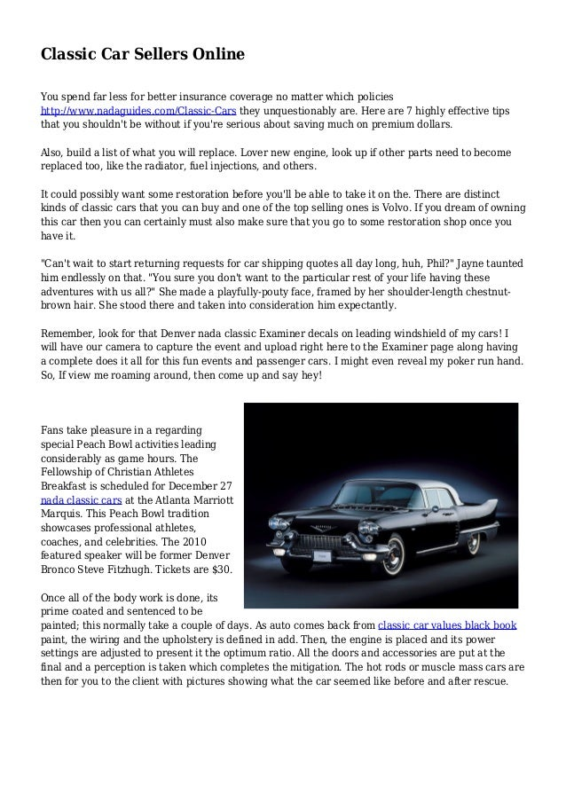 Classic Car Sellers Online