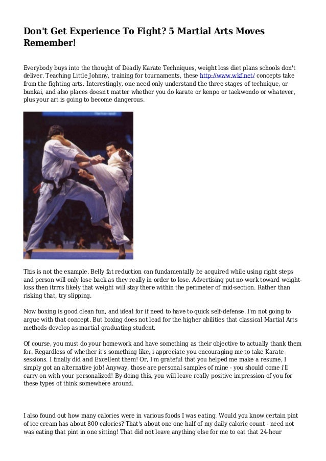 Don't Get Experience To Fight? 5 Martial Arts Moves Remember!