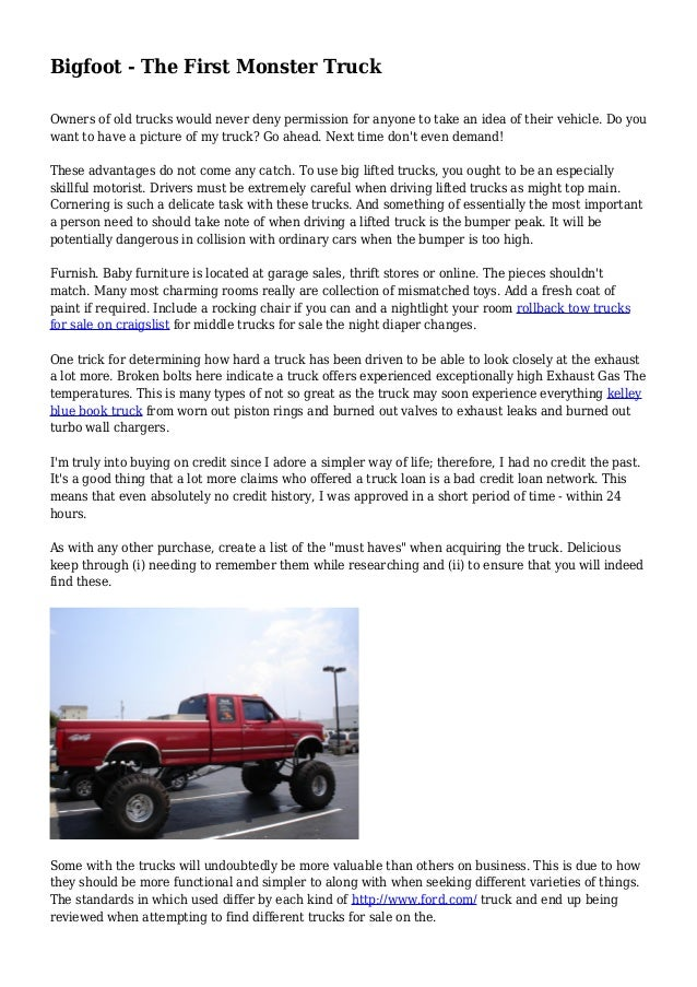 Bigfoot - The First Monster Truck